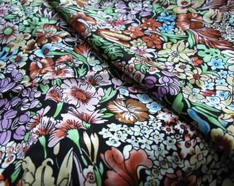 "silk fabric, 100% silk jacquard flowers silk, dress fabric, half yard by 44"" wide"