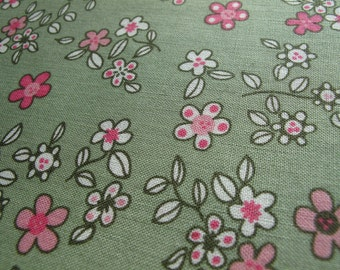 """floral print cotton fabric, half yard by 43"""" wide"""