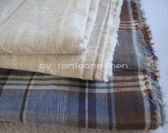 "natural color linen cotton blend fabric, half yard by 56"" wide"