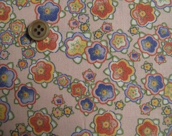 """Japanese fabric, floral print cotton fabric, last piece, quilting fabric, patchwork fabric, 20"""" by 42"""" wide"""