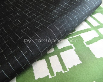 "Silk fabric, white lines yarn dyed in black pure 100% silk fabric, half yard by 39"" wide"