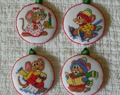 Adorable Christmas Mouse Ornaments