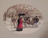 Victorian Winter Scene Cross Stitch