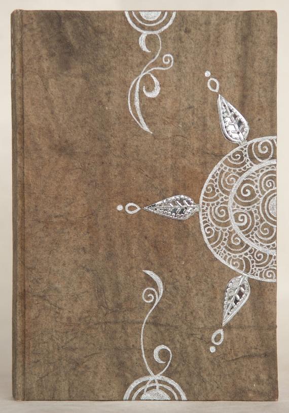 Journal Notebook - Autumn Handmade Journal - Art Journal - Indian designs