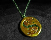 Salazar Slytherin's Pendant Horocrux recreated from the book cover Harry Potter and the Deathly Hallows