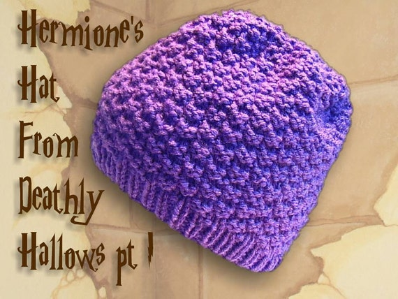 Hermione's hat carefully recreated from Harry Potter and the Deathly Hallows- with smoothly finished top