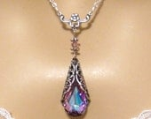 Reserved for Bride Christy: 6 Bridesmaids sets Romantic Victorian Purple Crystal and Victorian Flower Sterling