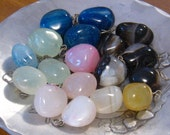Reserved for Meredith: Pendant Bead Assortment, Tumble Stone Pendants, Stone Drops - Multi Colored Ready to Hang on a Chain
