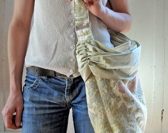 Shirred Silk Tote Bag