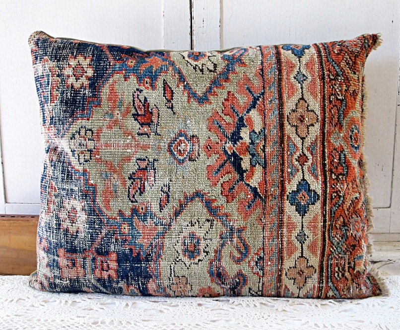 Oriental Carpet Floor Pillow Oversized Boho Cushion No. 1