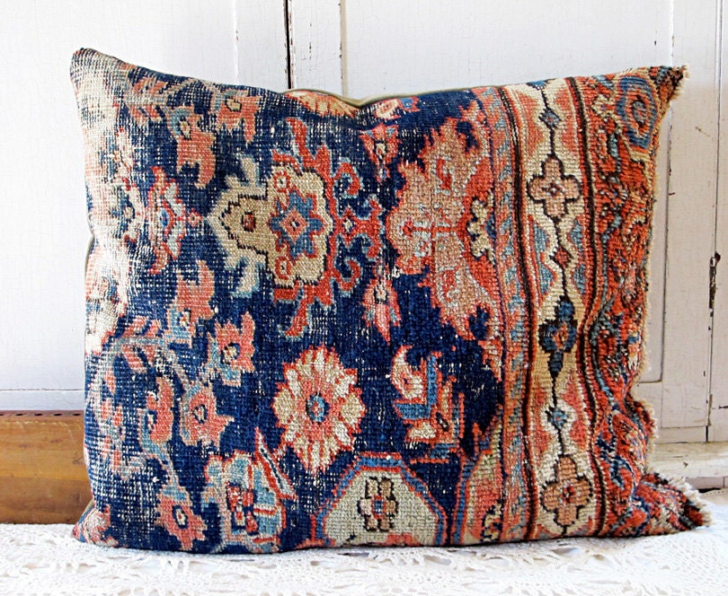 Hippie Floor Pillows : Oriental Carpet Floor Pillow Oversized Boho Cushion No. 2