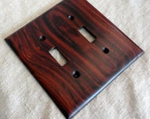 Wood Switchplate, Double Light Switch Plate, Cocobolo Wood