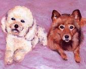 Reserved Custom Pet Portrait for Monica