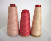 Large Vintage Spools of Thread- Think Pink Collection