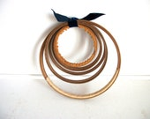 RESERVED- Two Small Wood Hoops