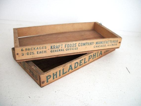 Pair of Vintage Cheese Boxes- Philadelphia Cream Cheese Kraft