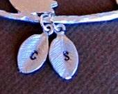 Add a Charm, Personalized Jewelry, Initial Leaf charm, Add On,  leaves, Customized Jewelry, letter charm, monogram charm, wedding jewelry