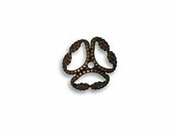 6pcs Vintaj Natural Brass 12mm Etruscan Bead Cap-  Natural Brass Jewelry Findings Craft Supplies Tools