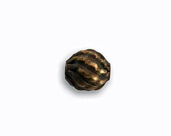 6 pcs Vintaj Natural Brass 7.5x7mm Pineapple Bead -Brass Round Beads Antique Brass Textured Bead Jewelry Findings Craft Supplies Tools