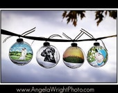 PhotOrnaments: LARGE ORNAMENT SIZE (personalized photo ornaments) Great Wedding Favors