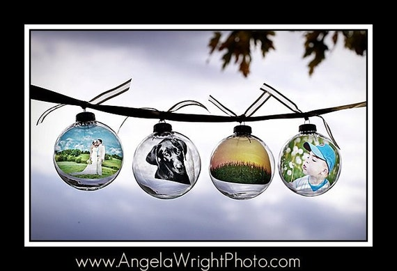 PhotOrnaments: LARGE ORNAMENT SIZE (personalized photo ornaments) Great Christmas Gifts For Anyone