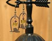 BangleSnaps Copper Birdcage Earrings