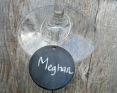 Meg's Chalkboard Wine Tags - for the home