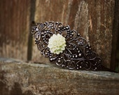 Moss Chrysanthemum Filigree Headband