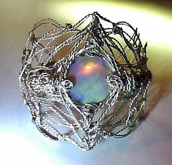 17 and a half cts earth mined Australian Black Opal Sculptured Art Bracelet