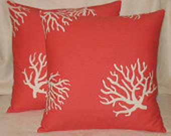 Pillow Cover Cushion Coral ReefCompanion to Coral Zigzag pick your size