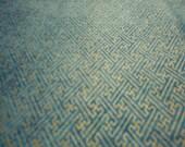 Kona Bay Asian fabric - Tori tonals - gold metallic geometric sashiko pattern on BLUE