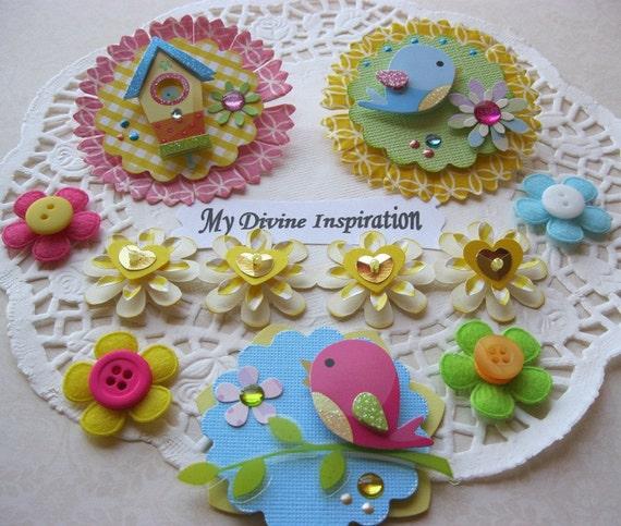 Happy Spring Scrapbook Embellishments