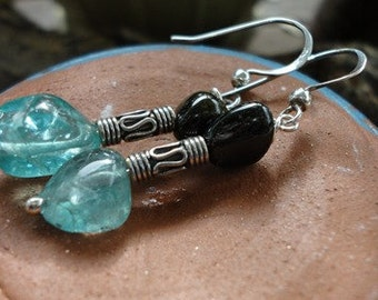 Apatite & Agate with Bali Bead in Sterling Silver