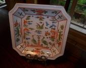 VTG Lovely Tropical Decorative Plate