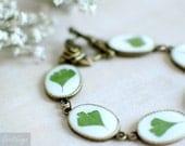 Real pressed leaf botanical jewelry - Green Fern Leaves - Nature lover gardener gift