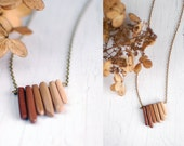 ombre necklace - varying gradient  shades - everyday jewelry