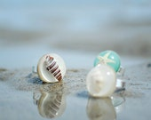 sea shell jewelry statement ring -Nature lover gift resin jewelry, beach sea jewelry, gift for a woman, gift under 25