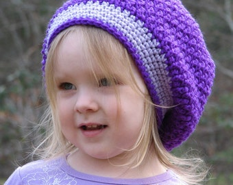 Slouchy Beret Toddler Crochet Pattern 3 sizes included PDF 034 Permission to Sell Finished Items