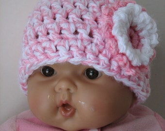 Easy Pink Twist Newborn Infant Hat Crochet Pattern - 2 sizes PDF 062 Permission to Sell Finished Items