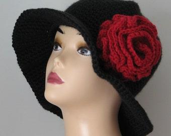 Old Spanish Rose Wide Brim Hat Crochet Pattern  PDF 067