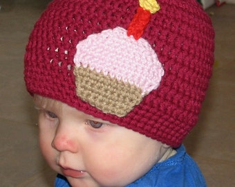 Baby's 1st Birthday Hat Crochet Pattern - 2 sizes included
