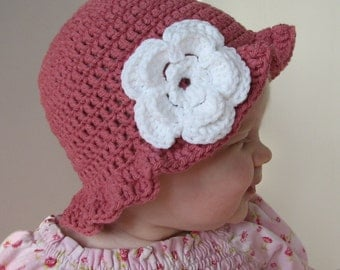 Floppy Brim Hat Crochet Pattern 3 sizes included PDF 048