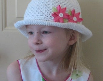 Daisy May Brimmed Sunhat Crochet Pattern 4 sizes PDF 075 - Permission to Sell Finished Items