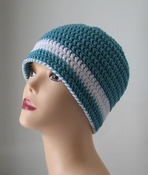 Quick & Easy Aqua Ladies Hat Crochet Pattern by ambassadorcrochet