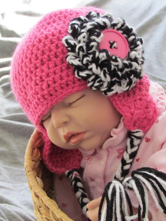 Crochet Earflap Hat Patterns For Beginners : Easy Basic Earflap Hat Crochet Pattern 6 sizes included PDF