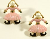 SALE Vintage 1960s Scatter Pins Oompa Loompa Like Girls