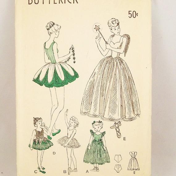 Vintage 1940s Costume Pattern Butterick  4696 Uncut  Fairy  Bust 22