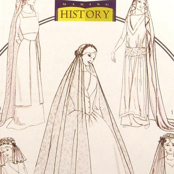 Wedding Veils And Headpieces Patterns: Antique Wedding Bridal Veil Pattern Butterick 4211 B4211 Uncut