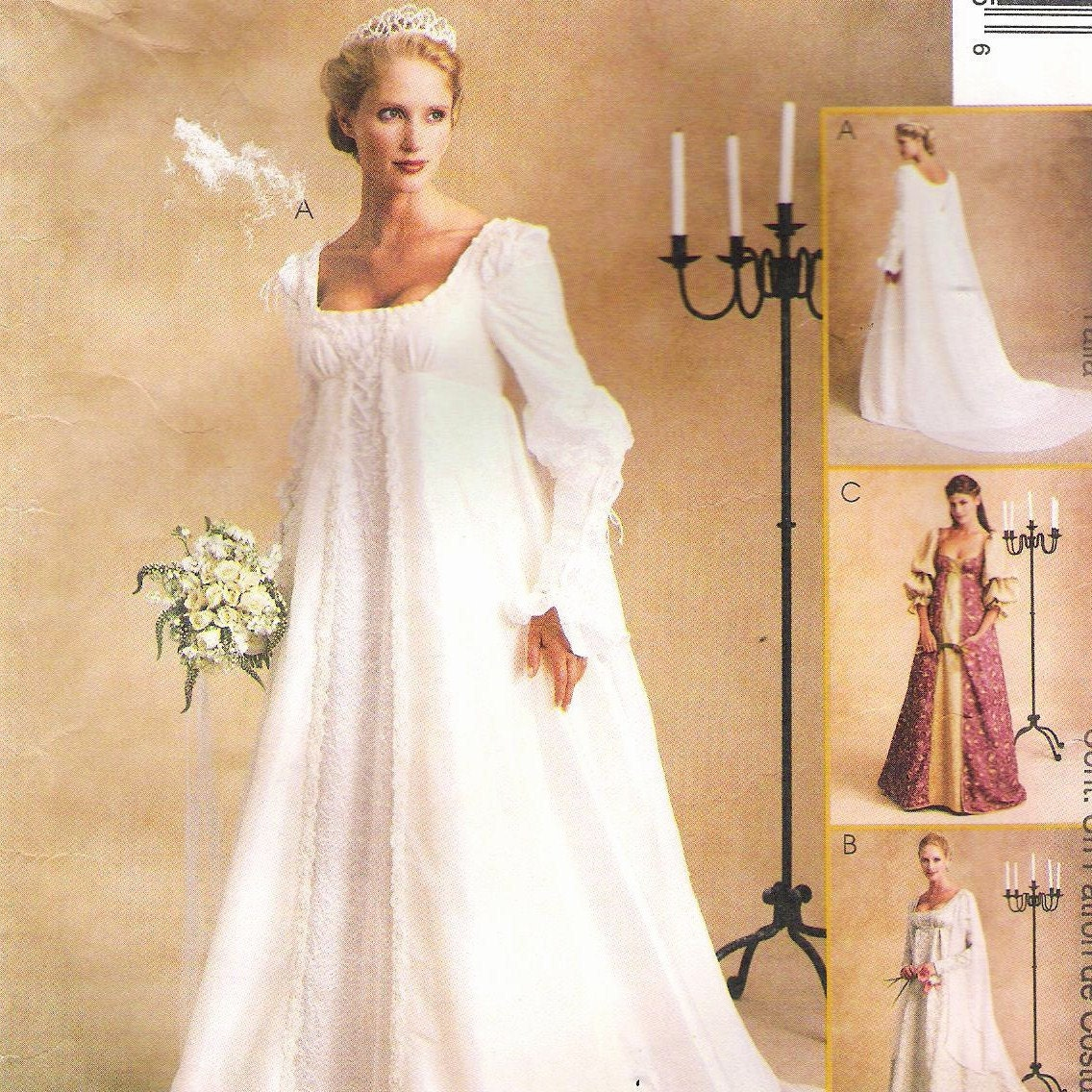 Vintage Wedding Dresses Utah: Vintage Wedding Dress Pattern Medieval Princess Goth Gown