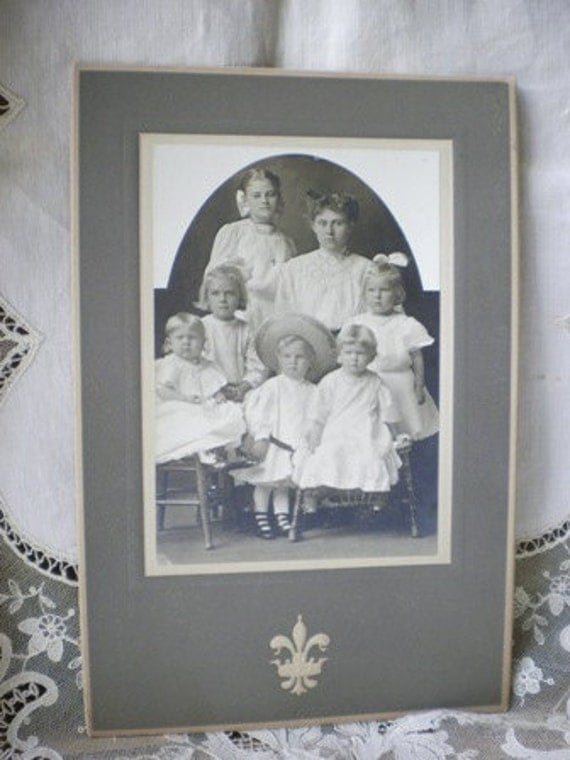 Mother and Children - Antique Photograph